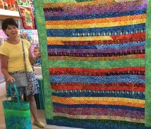 Jelly Roll quilt by Loraine Smith